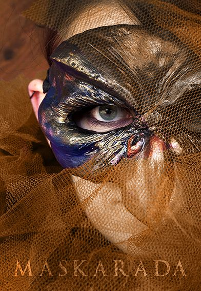 Bird Mask by Maskarada  Photographer: Bart Wolters  Mua: Ashley Design Make-up Artistry Model: Janalina Prantz
