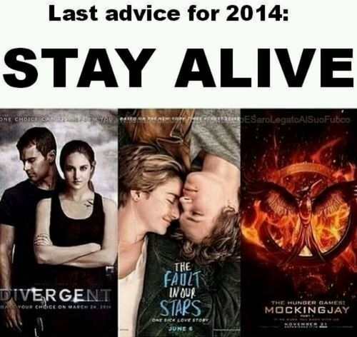 Impossible Divergent, The Fault In Our Stars and Mockingjay