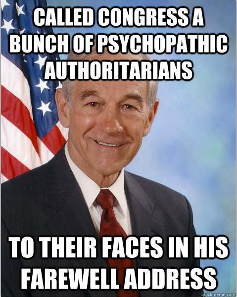 Ron Paul minces no words.