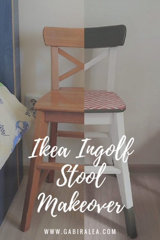 My Creative Makeover For An Ikea Ingolf Stool Ikea Diy Colorful