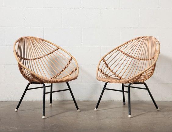 Retro Bamboo Sofa Set