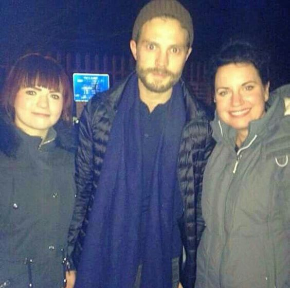 Jamie with fans today
