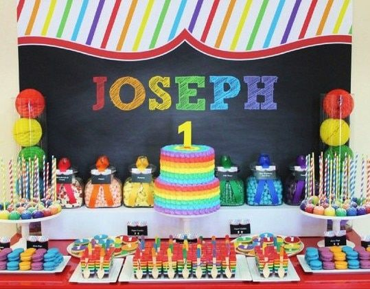 Rainbow Themed Birthday Party Rainbow Birthday Party Rainbow