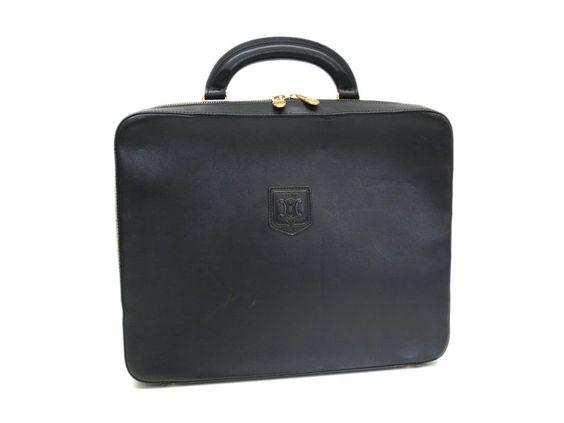 #Celine Briefcase Leather Black (BF056821)