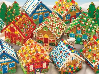 Gingerbread HouseS 350pc Christmas jigsaw puzzle | Item 54616Cobble Hill Puzzle Co