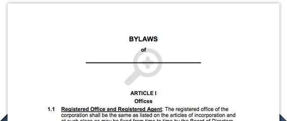 Free Corporation Bylaws  Corporate Bylaws Template  Business