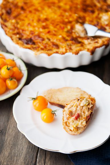 artichoke roasted pepper crab dip recipe more food appetizers peppers ...