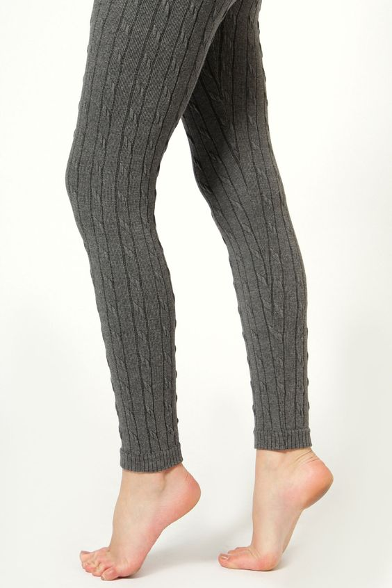 Pippa Knitted Cable Knit Leggings