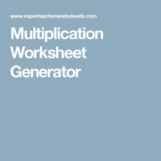 Multiplication Worksheet Generator Home Teaching – Multiplication Fact Worksheet Generator