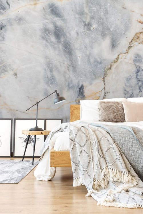 White And Blue Marble Effect Wall Mural Wallpaper Wallsauce Us In 2021 Blue Marble Wallpaper Marble Bedroom Marble Wallpaper Bedroom