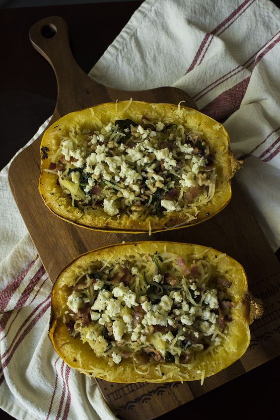 Spinach Bacon Spaghetti Squash 45 MINUTES TO PREPARE, SERVES 6 INGREDIENTS 1…