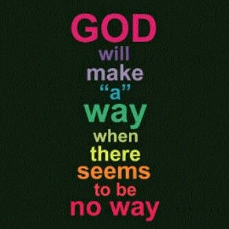 He Will make a way