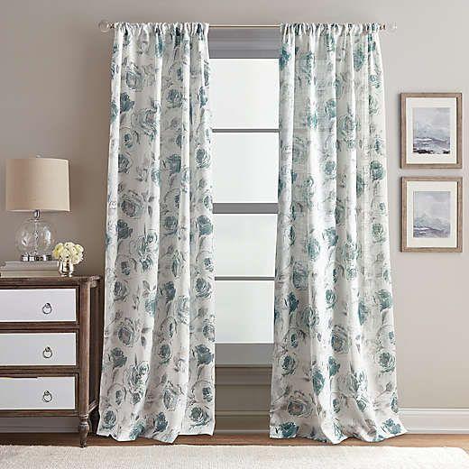 Blue Window Curtains Drapes Bed Bath Beyond Window Curtains Panel Curtains Rose Curtains