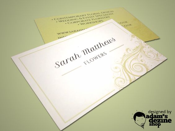 Business card design and print for Sarah Matthews Flowers #graphicdesign #florist #IsleofWight