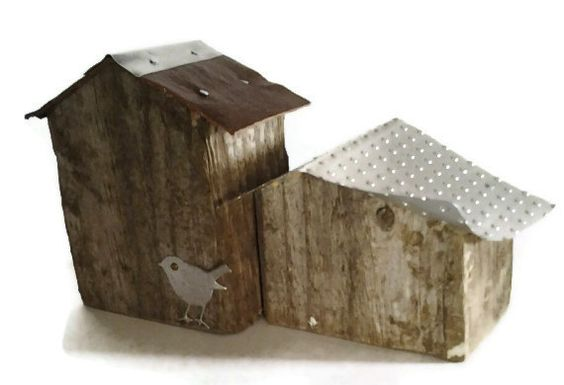 Petit Rustic Houses by purestylecrafts on Etsy, £35.00