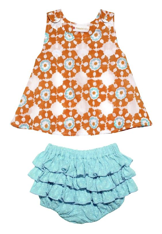 Masala Baby Boogie 2 Piece Set-Coral :: Vann and Liv ::