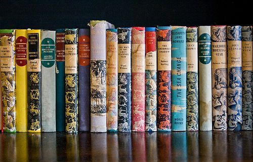 Old hardcovers.