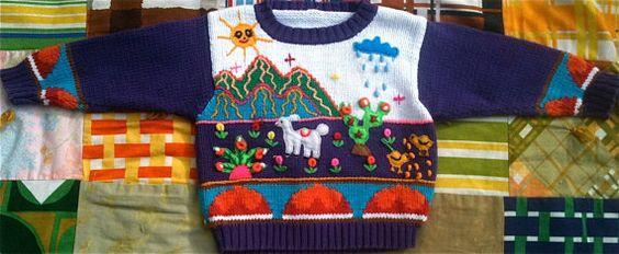 Purple Peruvian Sweater 2T3T by lishyloo on Etsy, $9.00