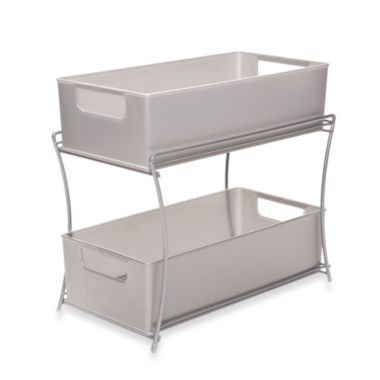 Two Tier Sliding Basket Organizer - BedBathandBeyond.com - For the kitchen and bathrooms