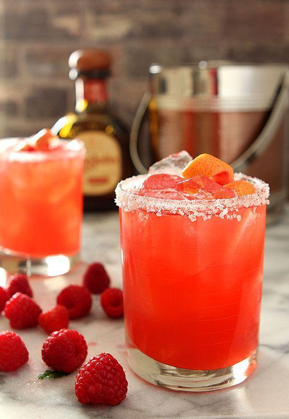Grapefruit and Raspberry Margarita for National Margarita Day