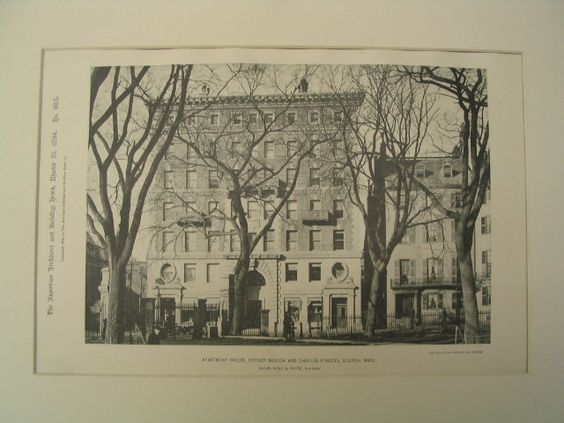 Apartment House, Corner Beacon and Charles Streets, Boston, MA, 1894, McKim, Mead and White