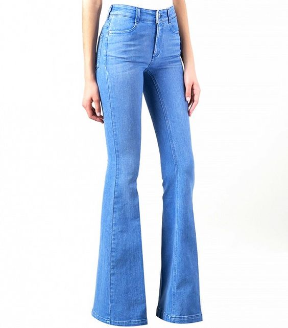 Stella McCartney Flared Jean in Light Blue: