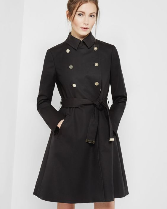 http://www.tedbaker.com/seu/Womens/Clothing/Jackets-Coats/MADEY-Double-breasted-trench-coat-Black/p/124115-00-BLACK