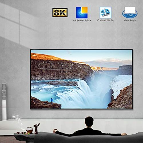 Screenpro Projector Screen 120 Inch Edge Free Fixed Frame Home Theater Screen 120 Diagonal 16 9 8k Ult In 2020 Home Theater Screens Projector Screen Projection Screen