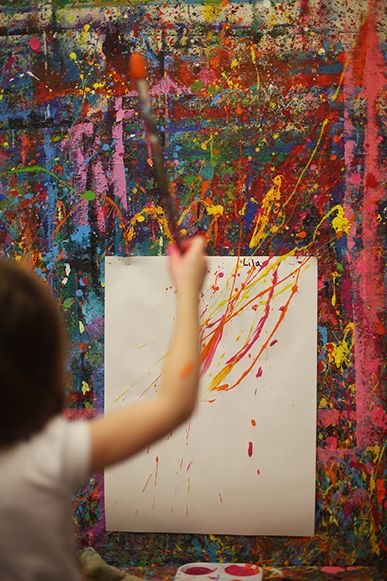 Splatter Paint Party   Pink Sugarland