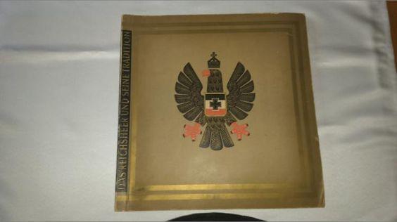 339) Das Reichsheer und seine Tradition Sammelalbum von 1930?, altersbedingte Gebrauchsspuren am Einband, ansonsten innen TOP, Bilder vollständig, Preis 75€