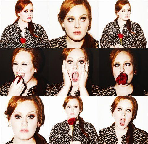 Adele's faces.