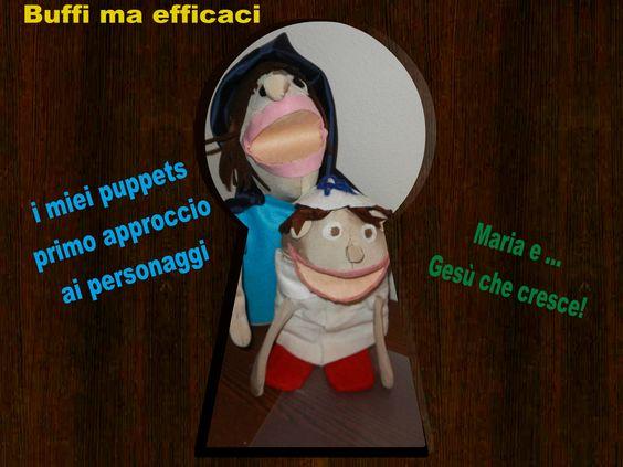 Buffi ma efficaci, i miei puppets per un primo approccio ai personaggi. Gesù bambino indossa il tipico copricapo degli ebrei! https://www.youtube.com/watch?v=Yy_sWuAMvWA