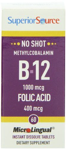 The Product Superior Source Shot Methylcobalamin B12 1000mcg Folic Acid 400mcg (60 Instant Dissolve Micro Tablets)  Can Be Found At - http://vitamins-minerals-supplements.co.uk/product/superior-source-shot-methylcobalamin-b12-1000mcg-folic-acid-400mcg-60-instant-dissolve-micro-tablets/