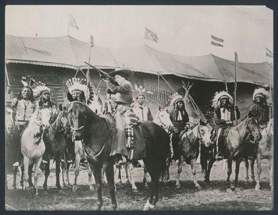 1902 Annie Oakley, Shooting on Horseback at Buffalo Bills Wild West Show