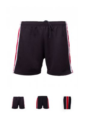 PS 1004 - Panelled Shorts with Taping. Fully functioning draw cords. Popcorn Main Body, Eyelet Side panels and taping.