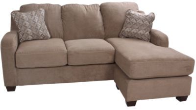 Homemakers furniture circa sofa with movable chaise for Ashley circa taupe sofa chaise