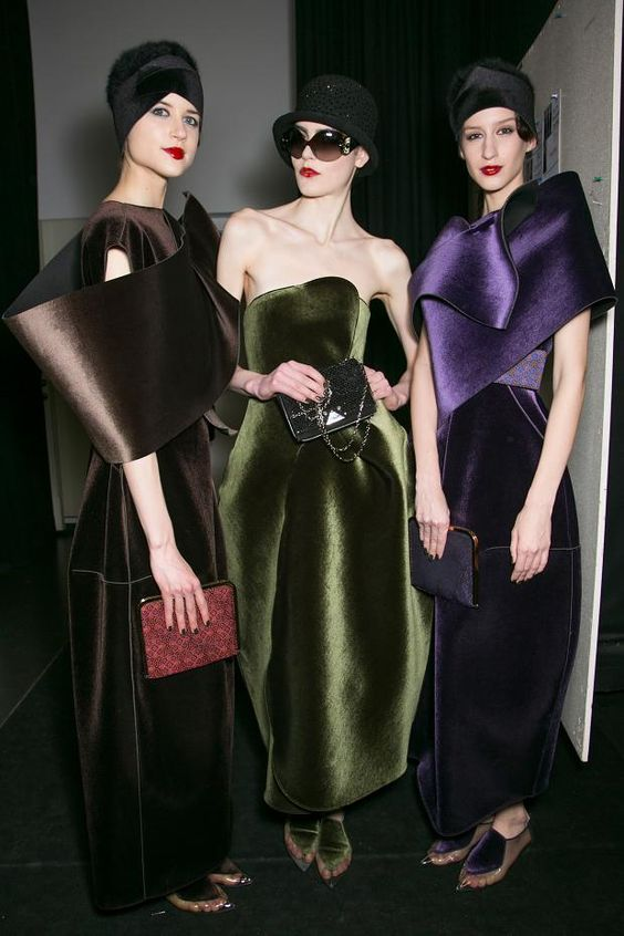 Emporio Armani backstage FW 2013. Very elegant and chic.