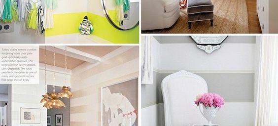 Interior Style File: Striped Walls