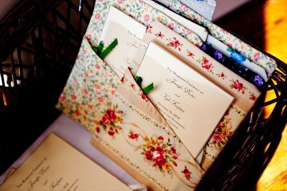 Vintage Fall Wedding - wedding invitations