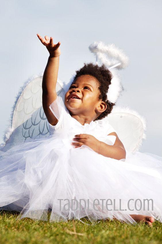 Full flower tutu dress angel costume!    www.taddletell.com