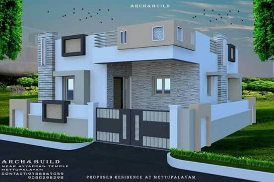 Pin By Swapnil Barde On 30x40 Houses House Elevation Small House Elevation Design Village House Design