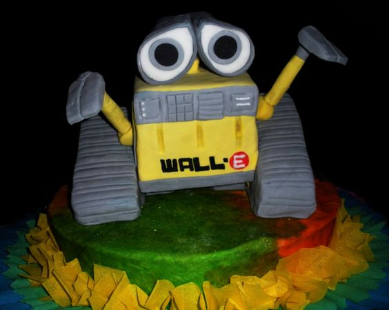 Torta de Wall-E en fondant
