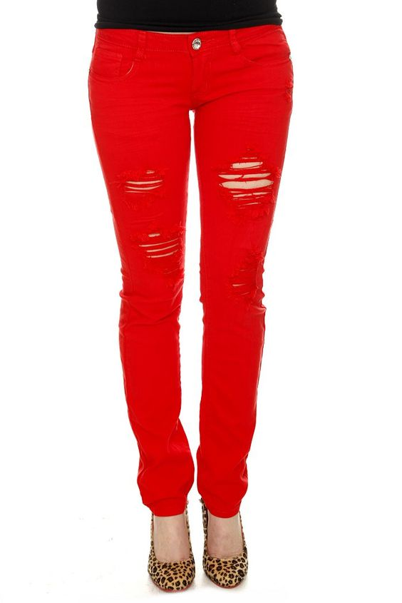 Maybe one day I will muster up the courage to wear red skinny ...