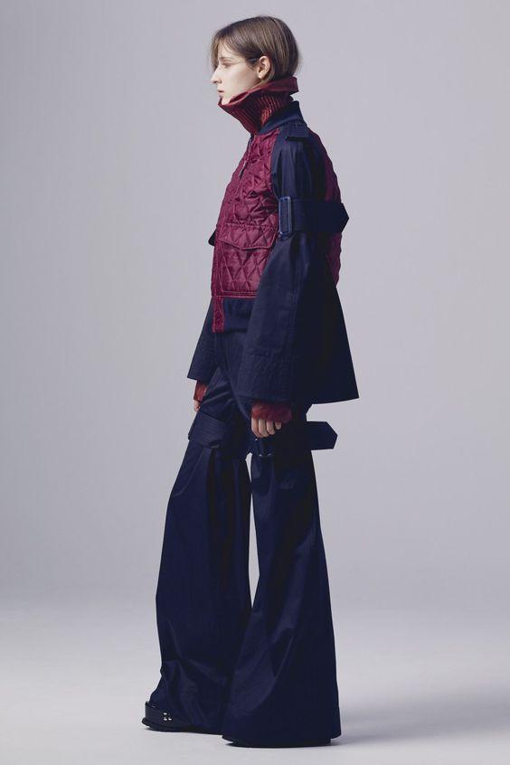 Pre-Fall 2016 Collection by Sacai #prefall16 #design #avantgarde #fw16 #newlines