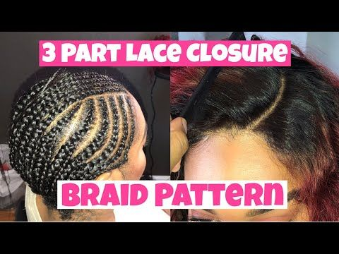 Flip Over Free Part Sew In No Leave Out Braid Pattern Youtube