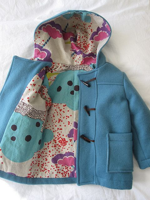 oliver + s school days coat lined with echino