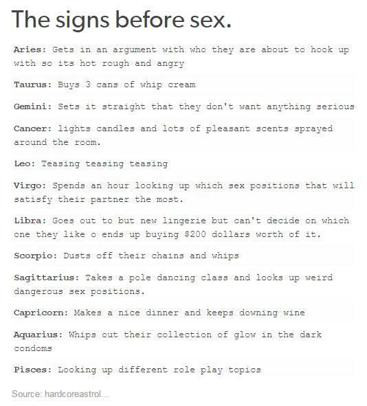 Zodiac And Sex 27
