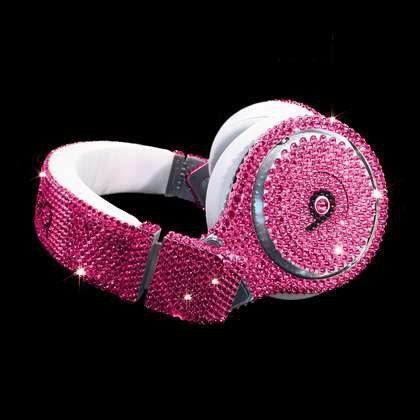 Bespoke Dre Beats Pro Headphones with Swarovski Crystals
