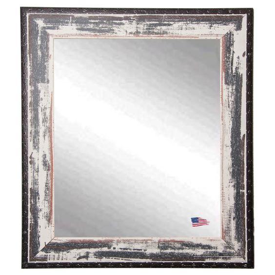 Rayne Mirrors Ava Rivet Trim Wall Mirror