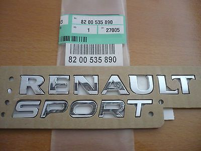 #Genuine renaultsport rear #badge clio 172 182 197 megane 225 #twingo ,  View more on the LINK: http://www.zeppy.io/product/gb/2/271915824437/